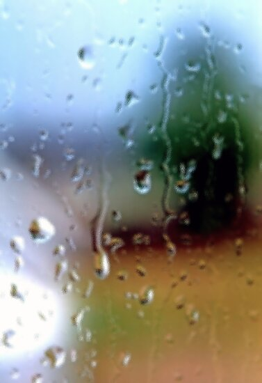 Rainy Window Abstract 2 by SteveOhlsen