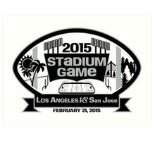 2015 LA Stadium Game - Black Text Art Print