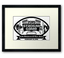 2015 LA Stadium Game - Black Text Framed Print
