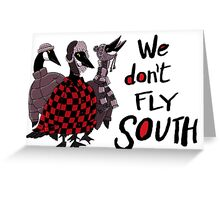 Oakland Geese don't fly South Greeting Card