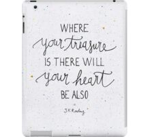 "Harry Potter ""Where your treasure is, there will your heart be also"" iPad Case/Skin"