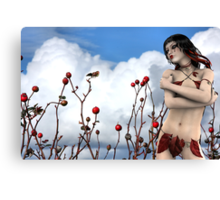 Tears of a Wild Rose - Rose & Rhana Griffin Canvas Print