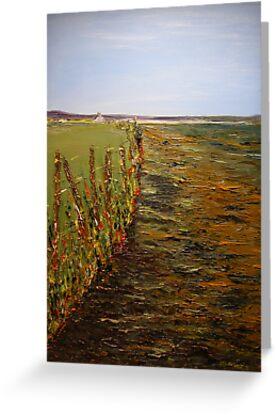 Poulnasherry Bay, Moyasta, Co.Clare (30 x 23 ins) by Pauline Dunleavy