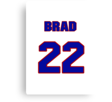 National baseball player Brad Rigby jersey 22 Canvas Print