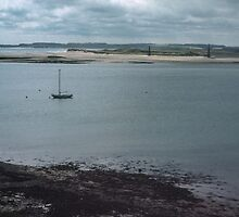 Holy Isle to Bamburgh Northumbria England 198405290004m by Fred Mitchell