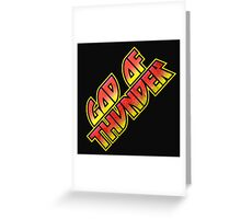 God Of Thunder Greeting Card