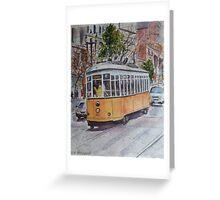 SF Historic Streetcars Greeting Card