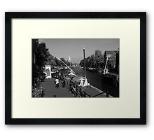 Amsterdam By The Canal Framed Print
