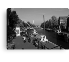 Amsterdam By The Canal Canvas Print