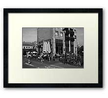 City Life In Amsterdam Framed Print