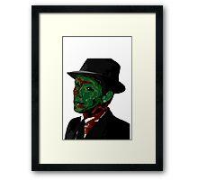 Zombie Sinatra Framed Print