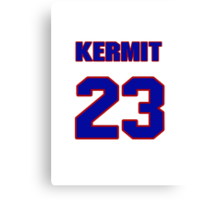 National baseball player Kermit Wahl jersey 23 Canvas Print
