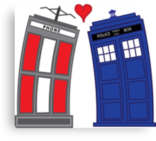 Timey Wimey True Love Canvas Print