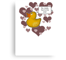 ♥ Rubber Ducky ♥ -girly Canvas Print