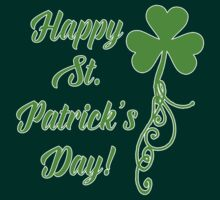 Happy St. Patrick's Day with Shamrock by Greenbaby