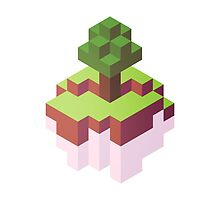 Minecraft Simple Floating Island - Isometric by punnygames