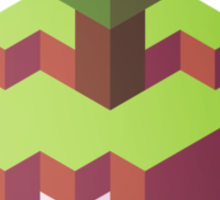 Minecraft Simple Floating Island - Isometric Sticker