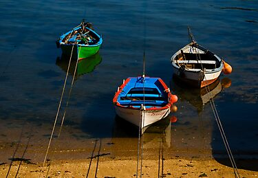 moorings, Costa da Morte, Galicia by Andrew Jones
