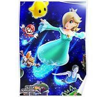 Super Smash Bros - Rosalina & Luma, Mario, Fox, Wii Fit Trainer Poster