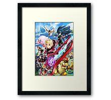Super Smash Bros - Shulk, Kirby, Bowser, Marth, Ike Framed Print