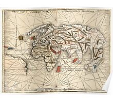 1513 World map by Martin Waldseemüller Poster
