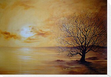 Yellow Skies, Lonely Tree by Cherie Roe Dirksen
