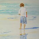 Boy on a beach by Susan Brown