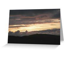 Honey sunset Greeting Card