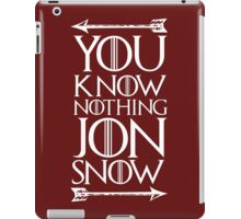 Knows Nothing iPad Case/Skin