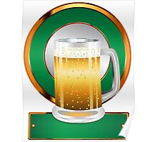 Glass of beer Poster