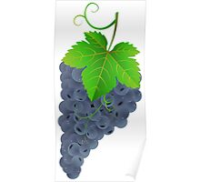 Tasty dark grape Poster
