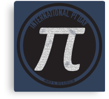 Pi Day 2015 - The Ultimate Pi Canvas Print