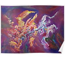 """Turbulence"" original abstract artwork by Laura Tozer Poster"