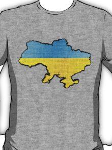 Ukraine Flag Map T-Shirt