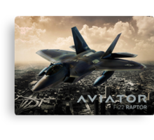 F-22 Raptor Fighter Jet Canvas Print