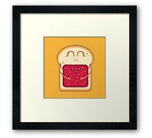 Hug the Strawberry Framed Print