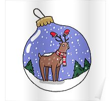 Holiday Deer Poster