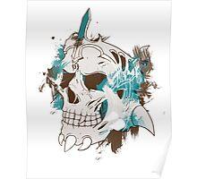 Bleeding skull Poster