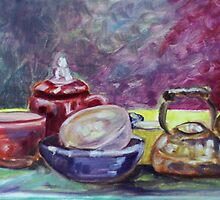 Single Stroke Still Life Study #2 (Oils)- by Robert Dye