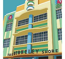 Berkeley Shore Hotel, Miami by LRWIllustration