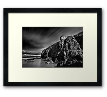Mussenden Temple and Sea Stack Framed Print