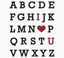 I love you alphabet T-Shirt