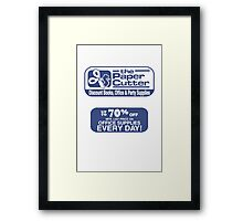 the Paper Cutter Framed Print