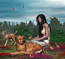 Porsha, Indian Princess and Friends by Walter Colvin