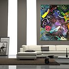 Visual Opus in Abstract Interior by Buddy Sears