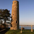 Clonmacnoise round tower by John Quinn