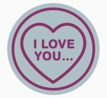 Geeky Love Hearts - I Love You… Kids Clothes