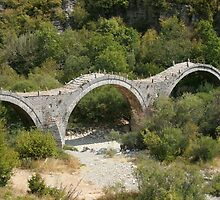 The old, triple-arch stone Bridge at Kipi. by DRWilliams