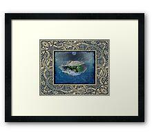 Chrysoprase - Safe Sea Journey Framed Print