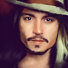 Johnny Depp by howkoon